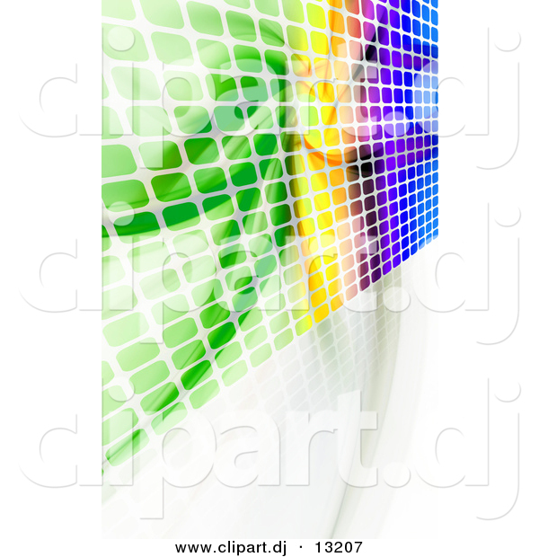 Clipart of a Colorful Equalizer Wall with Squares