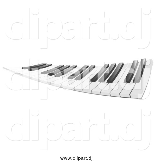 Clipart of a Piano Keyboard