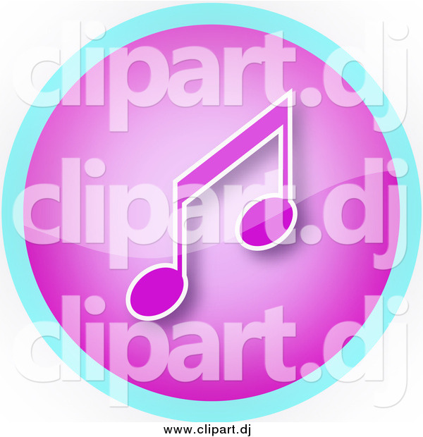 Clipart of a Purple and Music Note Icon