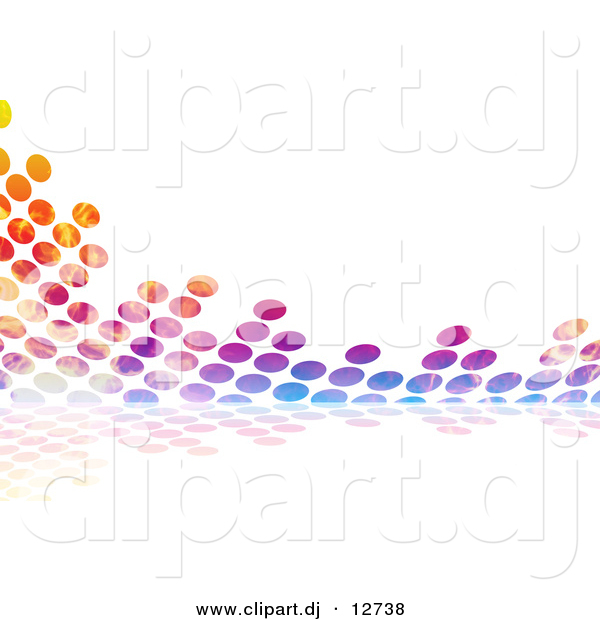 Clipart of Colorful Equalizer Circles over White Background