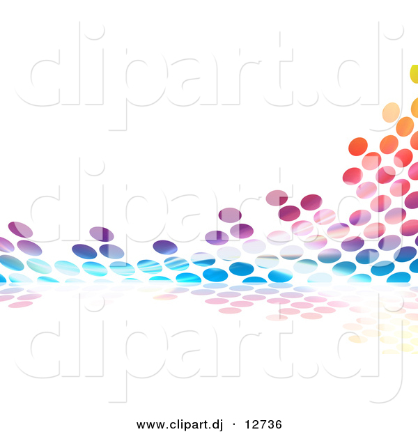 Clipart of Colorful Equalizer Dots
