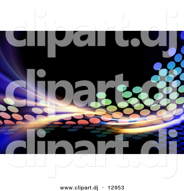 Clipart of Equalizer Pattern over Black Background