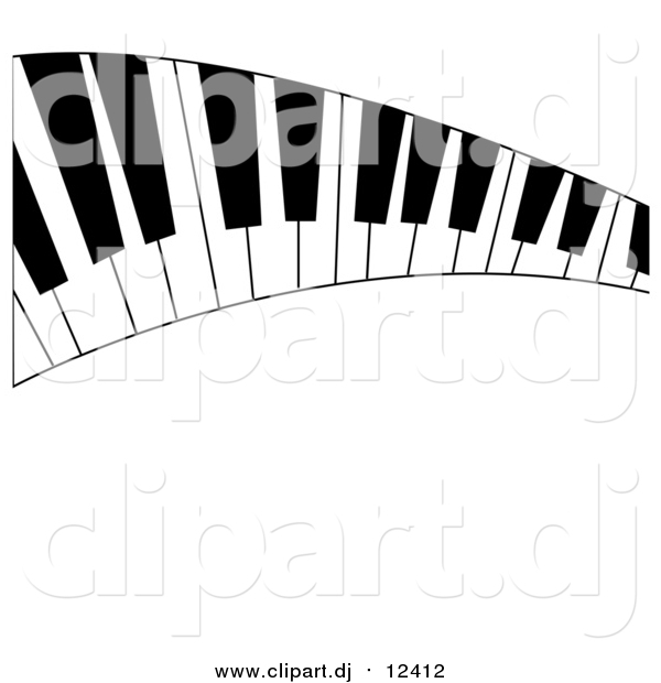 Vector Clipart of a Curved Keyboard