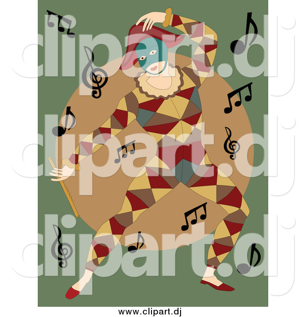Vector Clipart of a Dancing Mime