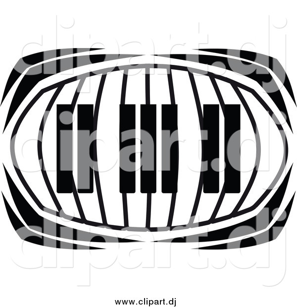 Vector Clipart of a Keyboard in Black and White