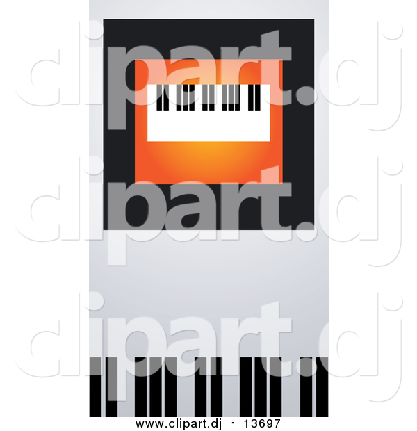 Vector Clipart of a Keyboard on Orange, Black and Gray