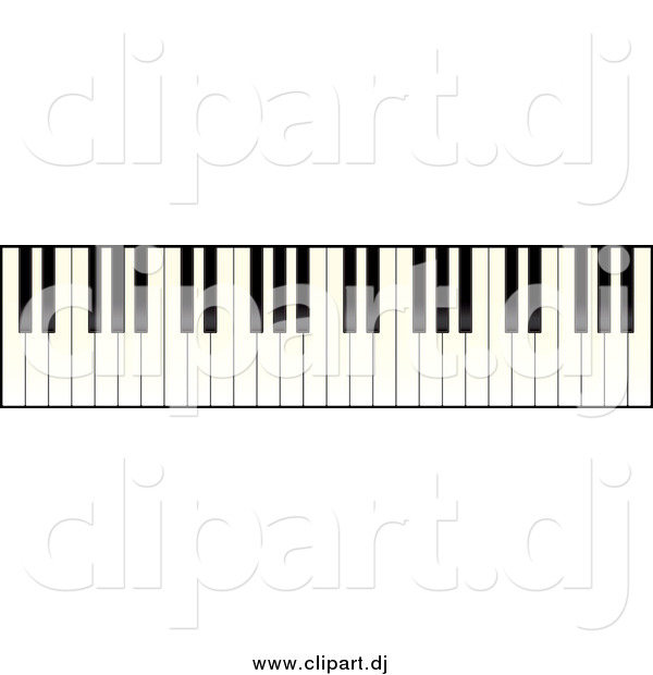 Vector Clipart of a Piano Keyboard