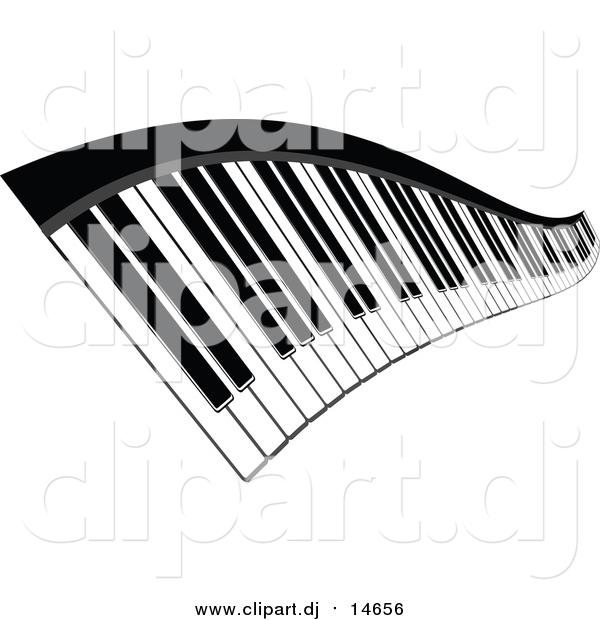 Vector Clipart of a Wavy Keyboard