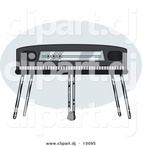 Vector Clipart of an Electric Piano