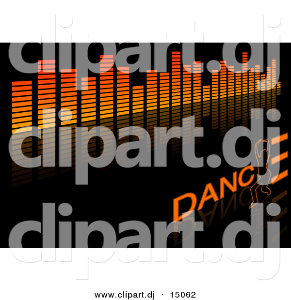 Vector Clipart of an Equalizer and Dance Background on Black