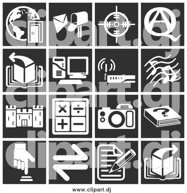 Vector Clipart of Square Icons