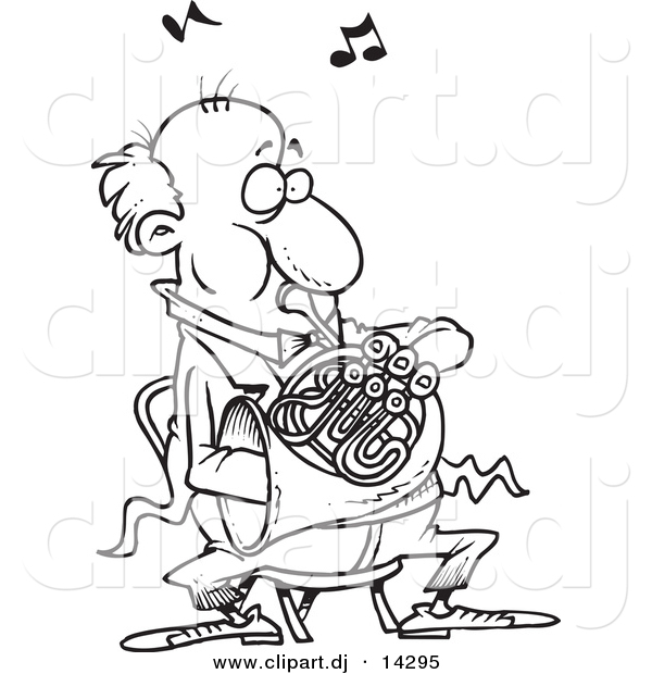 french horn coloring pages - photo#22