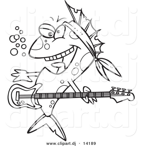Electric Rock Guitar Color In Page At Yescoloring And Roll Coloring Pages Best 2017