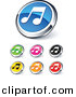 3D Vector Clipart of Music Note Icons - 7 Unique Design - Digital Collage by Beboy
