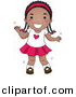 Cartoon Vector Clipart of a Happy Young Black Girl Dancing by BNP Design Studio