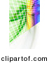 Clipart of a Colorful Equalizer Wall with Squares by Arena Creative