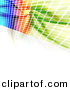 Clipart of a Colorful Wall of Equalizer Squares over White Background by Arena Creative
