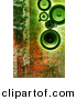 Clipart of Green Speakers over Rusty Background Design by Chrisroll