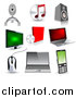 Vector Clipart of 3d Technology Icons by Vectorace