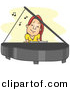 Vector Clipart of a Cartoon Girl Playing a Piano by BNP Design Studio