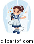Vector Clipart of a Girl Singing into a Microphone - Cartoon Styled Design by BNP Design Studio