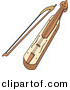 Vector Clipart of a Kemenche Music Instrument by Any Vector
