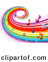 Vector Clipart of a Rainbow Music Wave by BNP Design Studio