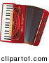 Vector Clipart of a Red Accordion by Pushkin