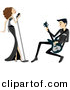 Vector Clipart of a Singer and Guitarist Performing Together - Cartoon Version by BNP Design Studio