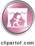 Vector Clipart of an Actor on Stage - Pink Website Button Icon by Alexia Lougiaki