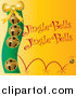 Vector Clipart of Golden Christmas Bells with Jingle Bells Text on Yellow by Pams Clipart