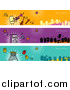 Vector Clipart of Party People Banners by NL Shop