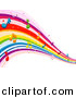 Vector Clipart of Rainbow Waves with Music Notes by BNP Design Studio