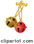 Vector Clipart of Red and Gold Jingle Bells by Pams Clipart