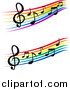 Vector Clipart of Staffs and Music Notes by Vector Tradition SM