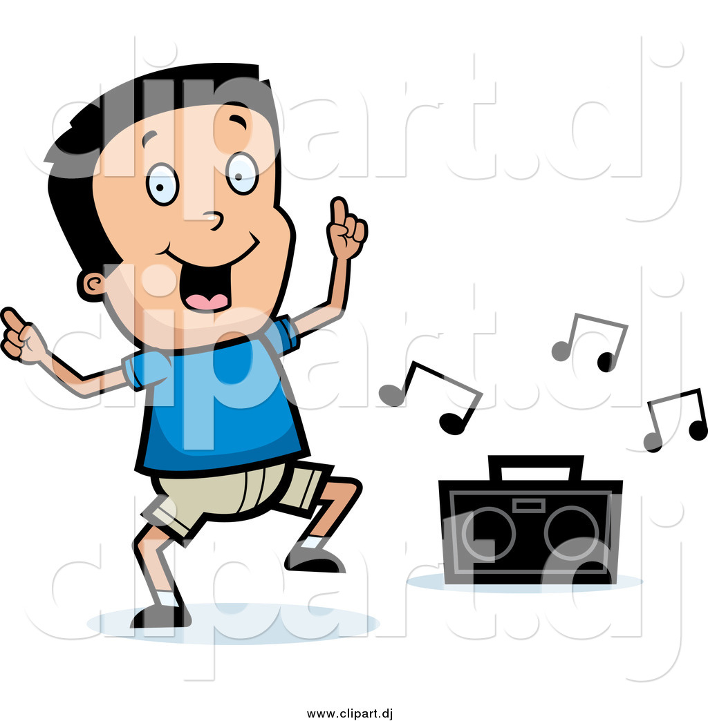 cartoon vector clipart of a happy black haired boy dancing to music rh clipart dj Red Pony Beads Clip Art Animated Dancing Clip Art