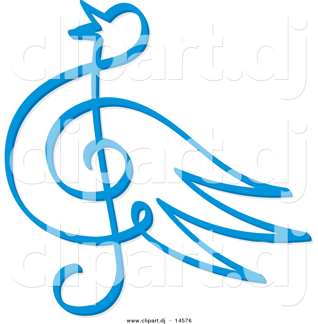 Vector clipart of a blue bird music note symbol by any vector 14576 vector clipart of a blue bird music note symbol biocorpaavc Gallery