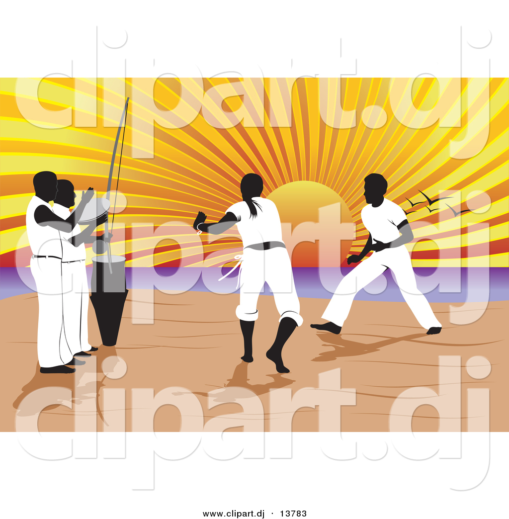 Vector Clipart of a Capoeira of Music and Martial Arts on ...