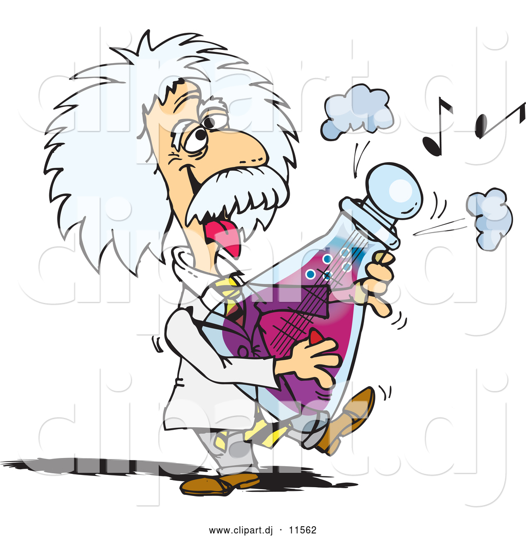 vector clipart of a scientist albert einstein playing a musical note clipart free music notes border clip art free